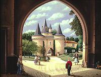 Le château des roches Baritaud par Raphaël Toussaint.jpg