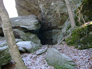 Leatherman (vagabond) - Entrance to the Leatherman Cave in Watertown, Connecticut