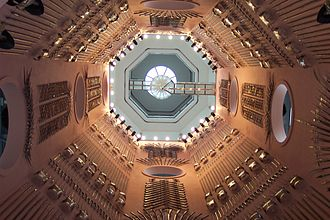 Tourism in Leeds - Royal Armouries Museum, Leeds: Looking up the main stairwell