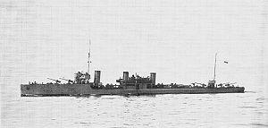 Estonian Navy - Estonian destroyer Lennuk in 1924.