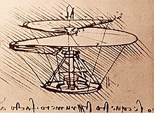 "Leonardo Da Vinci was one of the first aviation geeks. His notebooks inlcude several ""flying machines."" Image Wikipedia."