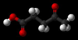 Levulinic acid - Image: Levulinic acid 3D balls
