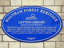 Leyton library (waltham forest heritage)