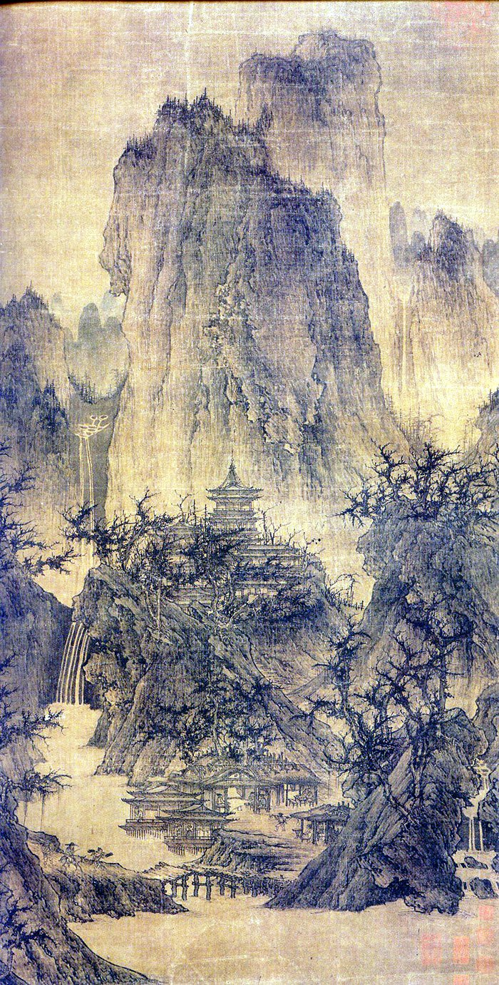 Li Cheng Buddhist Temple in Moutain All