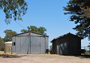 Limestone, Victoria - Country Fire Authority shed at Limestone
