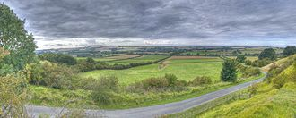 Lincolnshire Wolds - View from Red Hill in August