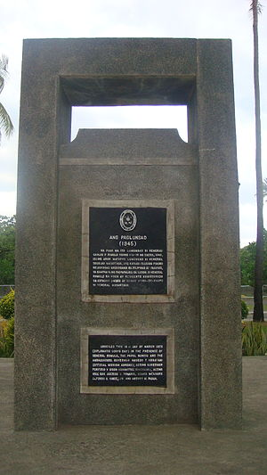 Carlos P. Romulo - Ang Paglulunsad Memorial, Lingayen, Pangasinan (Carlos P. Romulo launched on January 10, 1945 Philippine and Pacific troops to liberate Luzon
