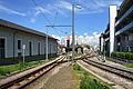 Linz Urfahr Gleiskreuzung Mühlkreisbahn Pöstlingbergbahn.jpg