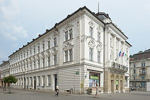Central Pharmacy (Ljubljana) - The front façade of the Central Pharmacy