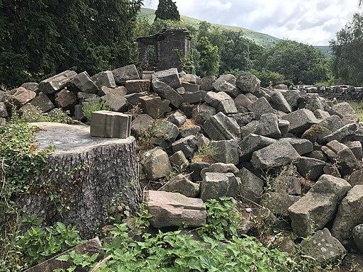 Llanthony Priory - stonework outside
