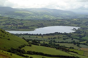 Llangorse Lake - Llangorse Lake viewed from Mynydd Llangorse
