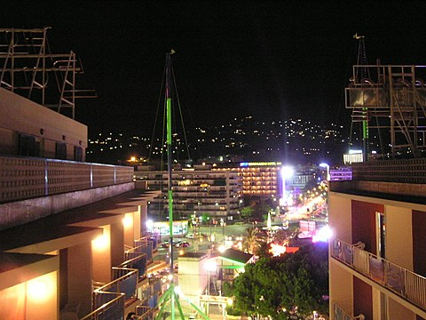 Lloret de Mar at night