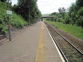 Llwynypia railway station Railway station in Rhondda Cynon Taf, Wales