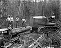 Loading crew with Cletrac tractor, George Scott Lumber Company, Susanville, ca 1922 (KINSEY 2326).jpeg