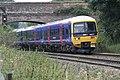 Local train passes under Bridge at Dun Mill - geograph.org.uk - 604649.jpg
