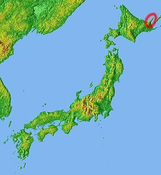 Shiretoko Peninsula - Image: Location Shiretoko Penin Jp