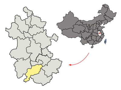 Location of Chizhou Prefecture within Anhui (China).png