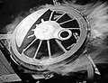 Locomotive Wheel Marked R2, Texas and Pacific Railway Company (16126926860).jpg