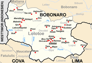 The Suco Lontas is located in the north of the administrative office of Lolotoe.