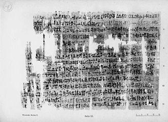 London Medical Papyrus - London Medical Papyrus