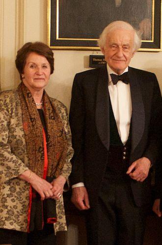 David Wilson, Baron Wilson of Tillyorn - David and Natasha Wilson at Cambridge University, March 2013.