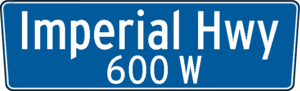 Imperial Highway - Image: Los Angeles Sign Imperial Highway