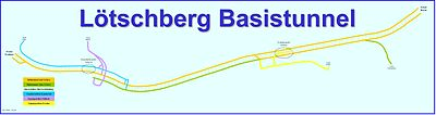 Lotschberg base tunnel rail map german