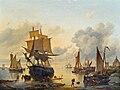 Louis Verboeckhoven - Dutch harbor scene.jpg