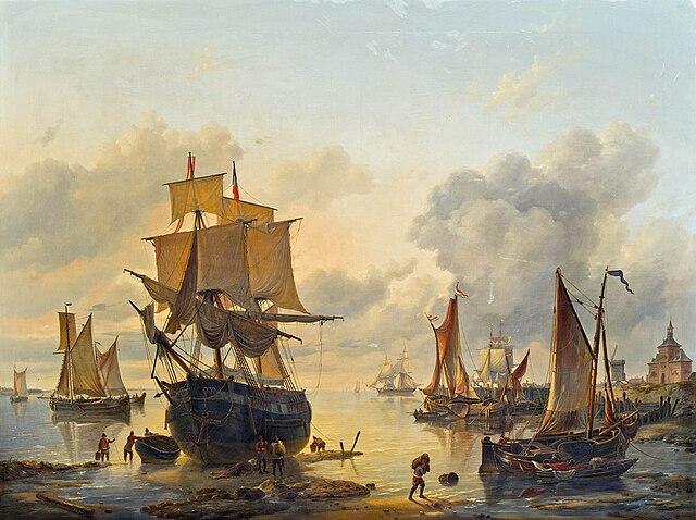 640px-Louis_Verboeckhoven_-_Dutch_harbor