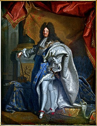 Cultural depictions of weasels - Louis XIV, as painted by Hyacinthe Rigaud, in an ermine-lined cape.