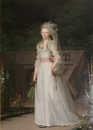 Princess Louise Auguste of Denmark - Portrait of Louise Auguste in 1787 by Jens Juel.