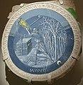 Luca della robbia, mesi per lo studietto di piero de' medici, 1450-56, gennaio.JPG
