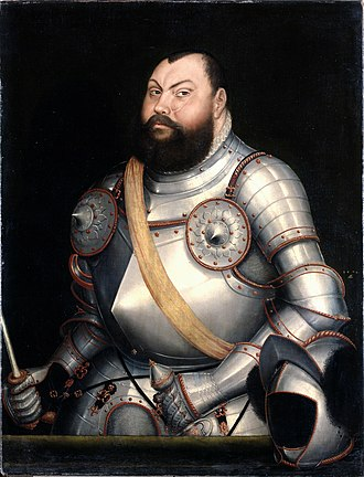 Schmalkaldic War - John Frederick I of Saxony by Lucas Cranach the Younger.