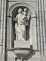 Lucey (Meurthe-et-M.) église façade, statue B.JPG