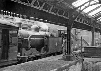 Ludgate Hill railway station - Ludgate Hill station (remains), with RCTS rail tour in 1953.