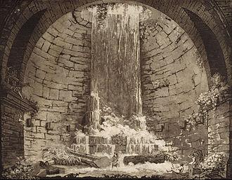 Gaspare Galliari - Rotunda converted as baths, original by Galliari, engraved in 1803 by Luigi Rados