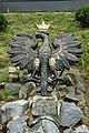 Lutcza, polská orlice před kostelem.jpg
