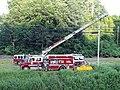 Lyndonville fire trucks VT Rte 114 Lyndonville VT July 2019.jpg