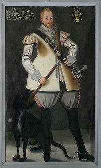 Målning. Porträtt. Officersvän. Georg Gunther Kraill. Med ram - Skoklosters slott - 85712.tif