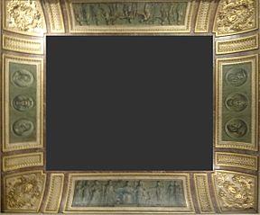 médaillons de la salle Percier et Fontaine au palais du Louvre