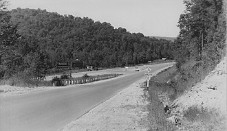 M-28 (Michigan highway) - Junction between M-28 and M-178 just south of Munising before 1941
