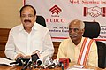 M. Venkaiah Naidu along with the Minister of State for Labour and Employment (Independent Charge), Shri Bandaru Dattatreya addressing at the signing ceremony of an MoU between Employees' Provident Fund Organisation and HUDCO.jpg