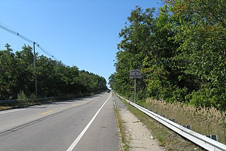 Massachusetts Route 18 - Southbound entering Bridgewater