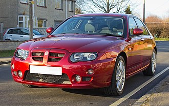 MG ZT - Facelift MG ZT 160 (1.8t) in Firefrost Red.
