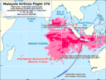 MH370 Malaysia Airlines Flight 370 map GEOMAR calculation 01 EN.png