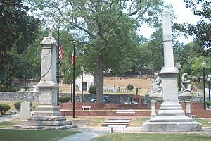 Myrtle Hill Cemetery - Veteran's Plaza (Confederate Park on the front).