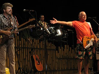 Mac McAnally - McAnally (left) with  Jimmy Buffett in June 2009