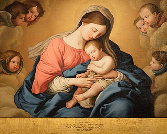 "Angels We Have Heard on High - ""Madonna with child and angels"" by Giovanni Battista Salvi da Sassoferrato"