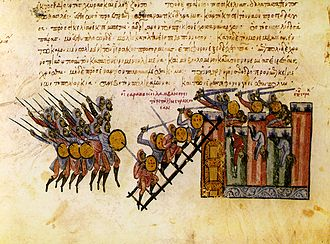 Muslim conquest of Sicily - The fall of Syracuse to the Arabs, from the Madrid Skylitzes