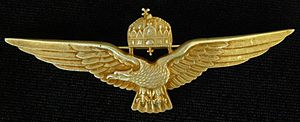 Aviator badge - Royal Hungarian Air Force Pilots Badge metal version